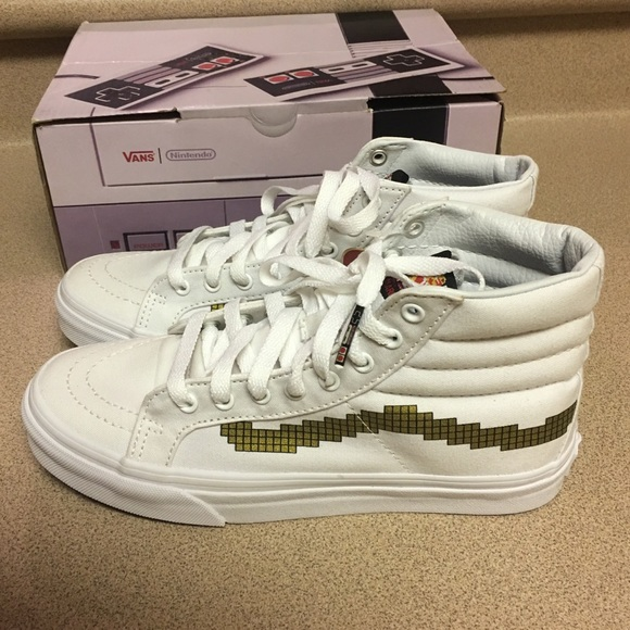 ee629d8e723 Vans SK8-Hi Slim Nintendo Gold Men s 6.5 Women 8